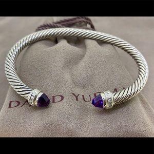 David Yurman 5mm Cable Classic Bracelet Amethyst